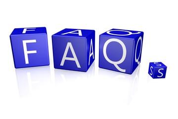 FAQs Würfel blau