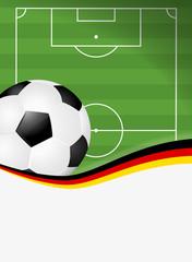 Fußballfeld mit Ball Deutschland