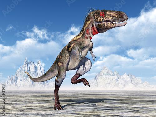 Leinwanddruck Bild Dinosaur Nanotyrannus