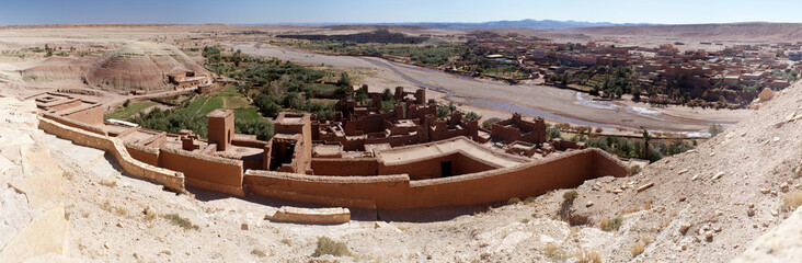 Panoramic overview of Ait Benadu village in Morocco