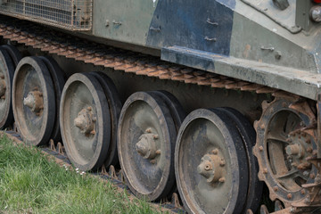 Miltary tracked vehicle