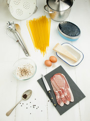spaghetti carbonara ingredients