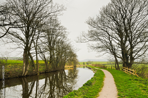 Winter view of Lancaster Canal