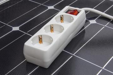 Solarzelle Steckdose