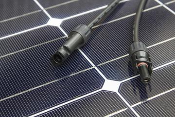 Solarzelle Anschlussleitung