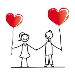 Herz - Hochzeit - Heirat - Verlobung - Junges Paar