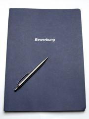 Bewerbungsmappe mit Stift 3