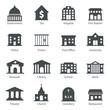 Leinwandbild Motiv Government buildings icons
