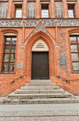 House of Nicolaus Copernicus (XV c.) in Torun, Poland