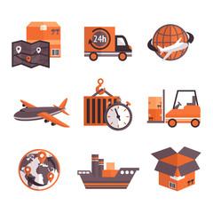Logistic Services Icons Set