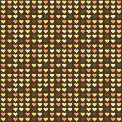 Seamless abstract pattern with hearts