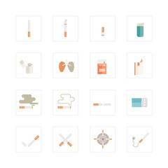 Cigarette icons set.