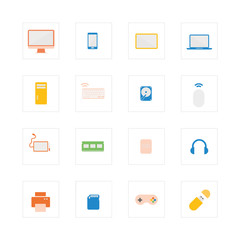 Computer device icons set.