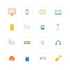 Computer device icons set.