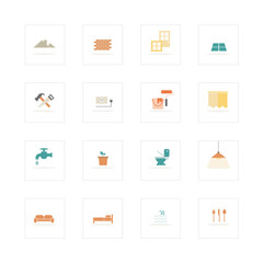 Home and material icons set