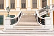 The front staircase of Schonbrunn palace in Vienna