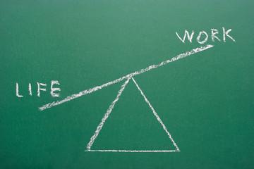 Life and work balance concept