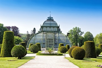 Botanical garden near Schonbrunn palace in Vienna