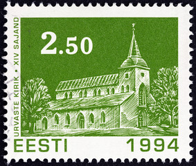 Urvaste Church (Estonia 1994)