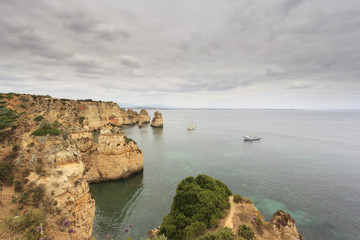 Vista para a costa do Algarve