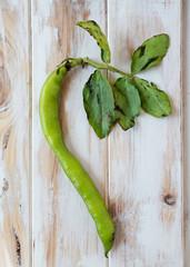Seedcase lima beans.