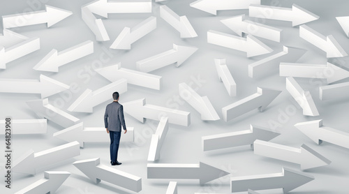 canvas print picture Businessman with lots of choices