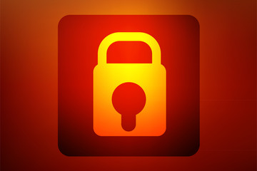 lock icon, vector illustration.