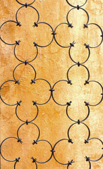Wrought iron a window flower design
