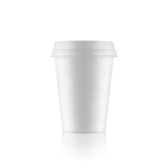 Regular white take-out coffee cup
