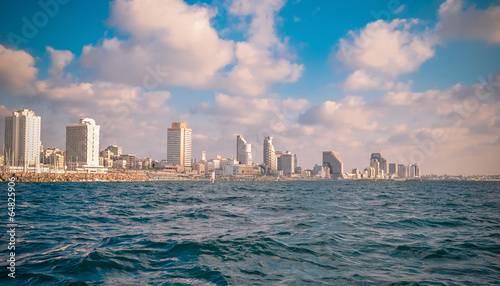 view from the sea on Tel Aviv and not only