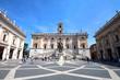 Leinwanddruck Bild - Rome - Campidoglio (statue de Marc-Aurèle)