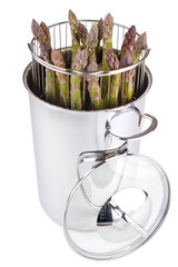 Stainless steel asparagus steam cooker