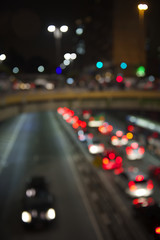 Night Traffic Sao Paulo Brazil Defocus