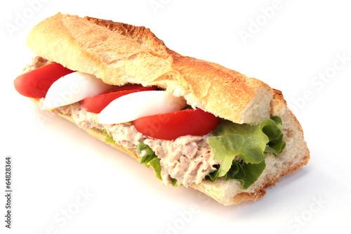 Foto op Plexiglas Snack sandwich au thon