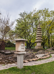 Public garden in Kiev in the Japanese style done in honor of the