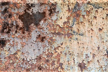 Rost an der Oberfläche von Metall