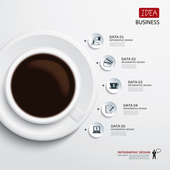 coffee cup and business infographic