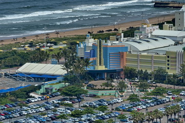 Entertainment complex by seaside in Durban city