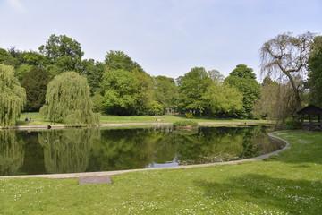 L'étang supérieur du parc Roi Baudoin de Jette