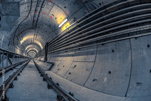 Underground tunnel for the subway - 64830130