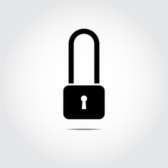 Lock icon. Vector