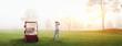 Leinwandbild Motiv golf course man