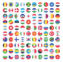 Flags vector of the world on white background