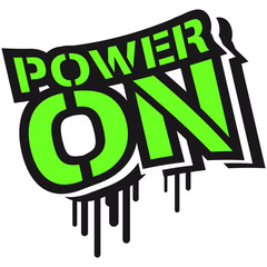Power On An Schalter Graffiti