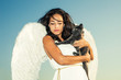 angel and cat