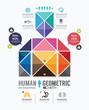 Infographic human geometric Design template. concept.vector illu