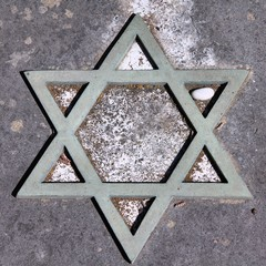 Star of David at Campo Verano cemetery in Rome.