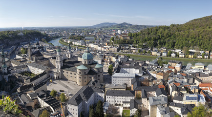 The downtown of Salzburg