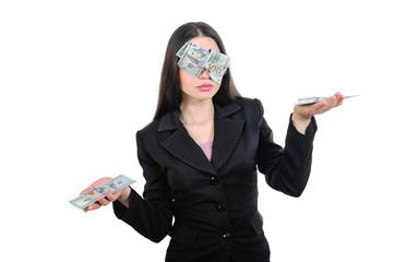 Girl blinded by greed, weighs income, money, profit