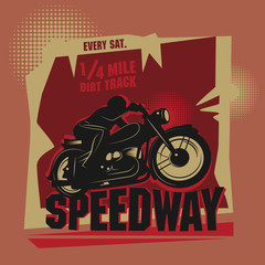 Abstract background with the words Speedway inside